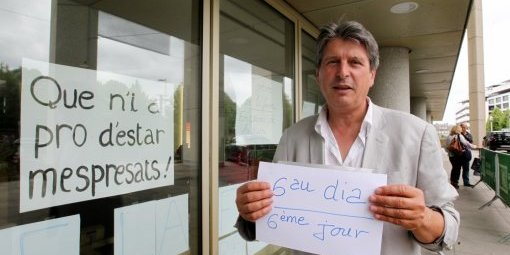 david-grosclaude-dans-son-6eme-jours-de-greve-de-la-faim_A.TORRENT