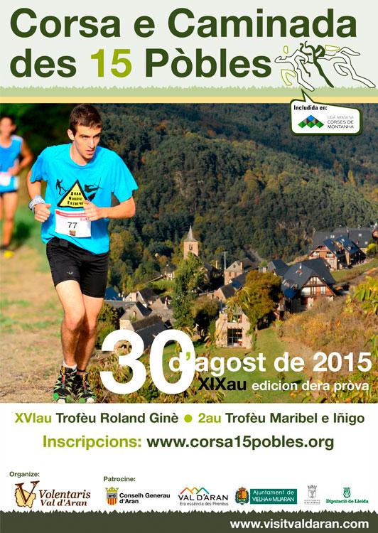 cartel CORSA 15 PÒBLES 2015