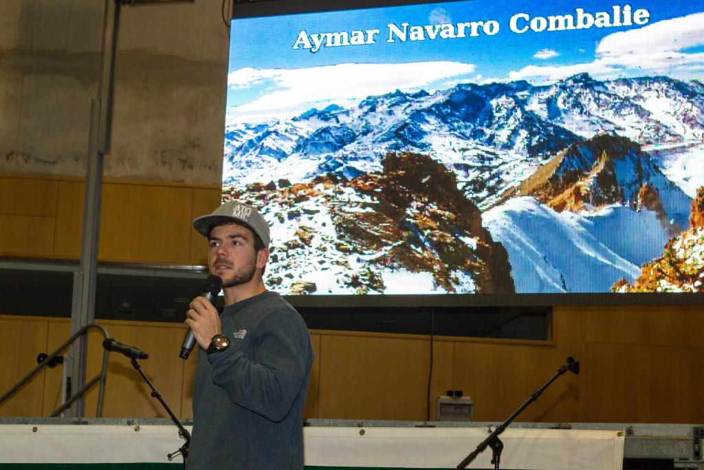 Inaguración para profesionales - Aymar Navarro - Padrino del evento , SnowFest 2015, Palacio de los Deportes de Vielha - Val d'Aran - Lleida, 27/11/2015; SnowFest/Gorka Martinez