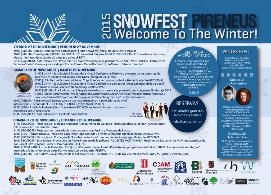 PROGRAMA SNOWFEST 2015