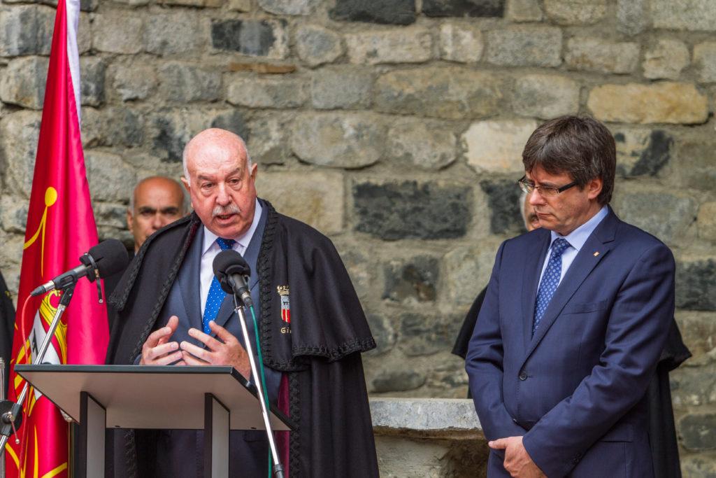 Carlos Barrera Sindico de Aran parlamentos oficiales, Carles Puigdemonet President de la Generalitat; Hesta d'Aran - Festa d'Aran, Vielha - Val d'Aran; 17/06/2016; Gorka Martinez - gkmph;